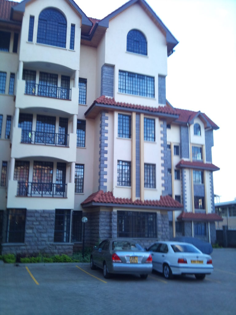 My apartment building in Nairobi