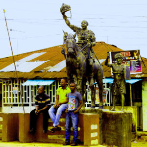 A bronze statue in Benin City