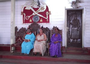Benin City: The Queen of Benin during a royal birthday celebration ceremony