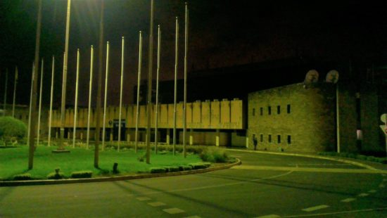 JKIA Arrivals hall after the fire (exterior)