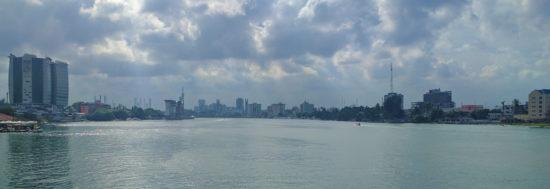 Lagoon, Nigeria. Ikoyi and Victoria Island