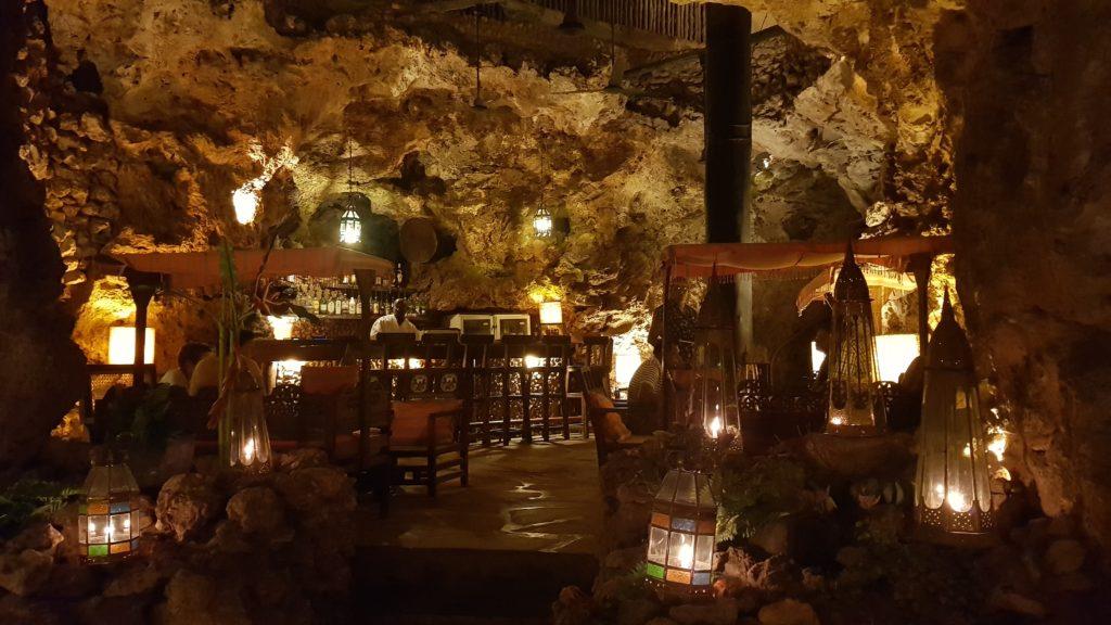Ali Barbour's Cave Restaurant in Diani