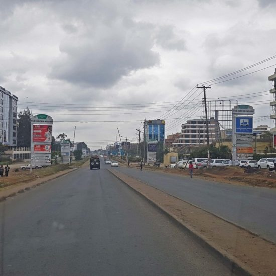 Ngong Road. Empty after the election