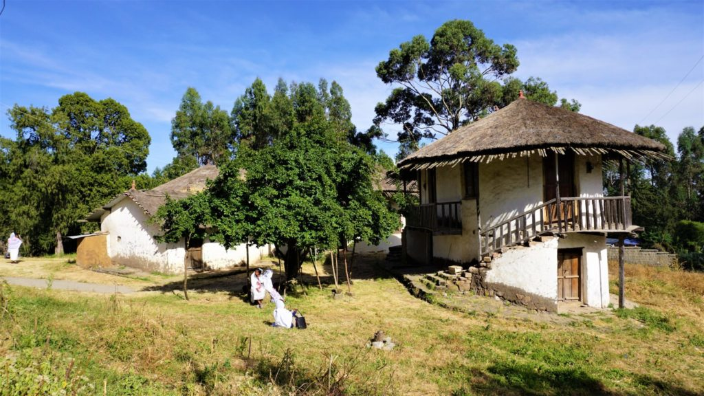 Addis Ababa - The Imperial Palace of Emperor Menelik II on Entoto Hill.  Unlike his successor, Haile Selassie, Menelik II did not spend money on lavish palaces or a high-flying lifestyle