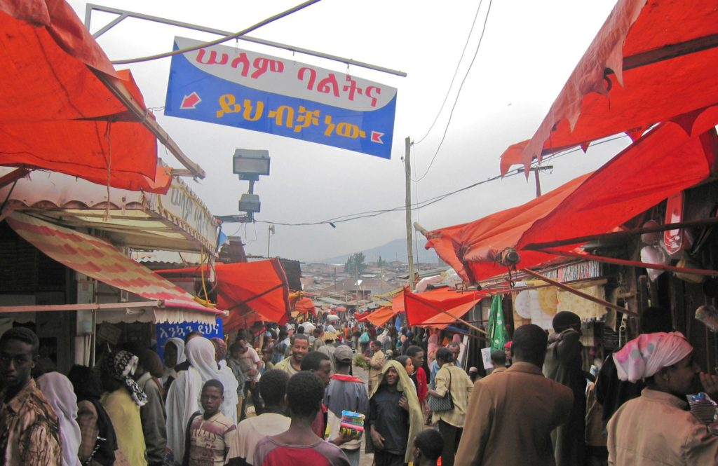 Mercado - Addis Ababa's vast outdoor market area. Picture from my first trip to Ethiopia in 2004