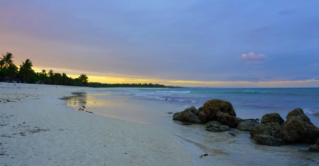 Diani - Sunset on the beach
