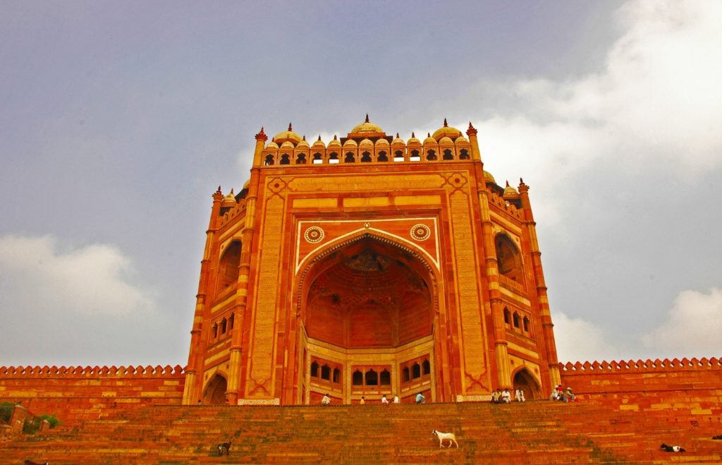 The Buland Darwaza, in Fatehpur Sikri. The world's highest gateway. Built in 1602 to commemorate the victory of Mughal emperor Akbar over Gujarat