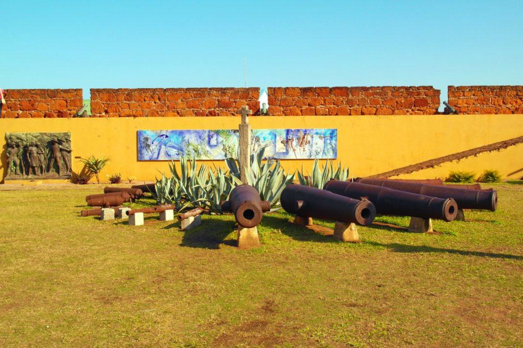 Cannons at Fortaleza de Maputo