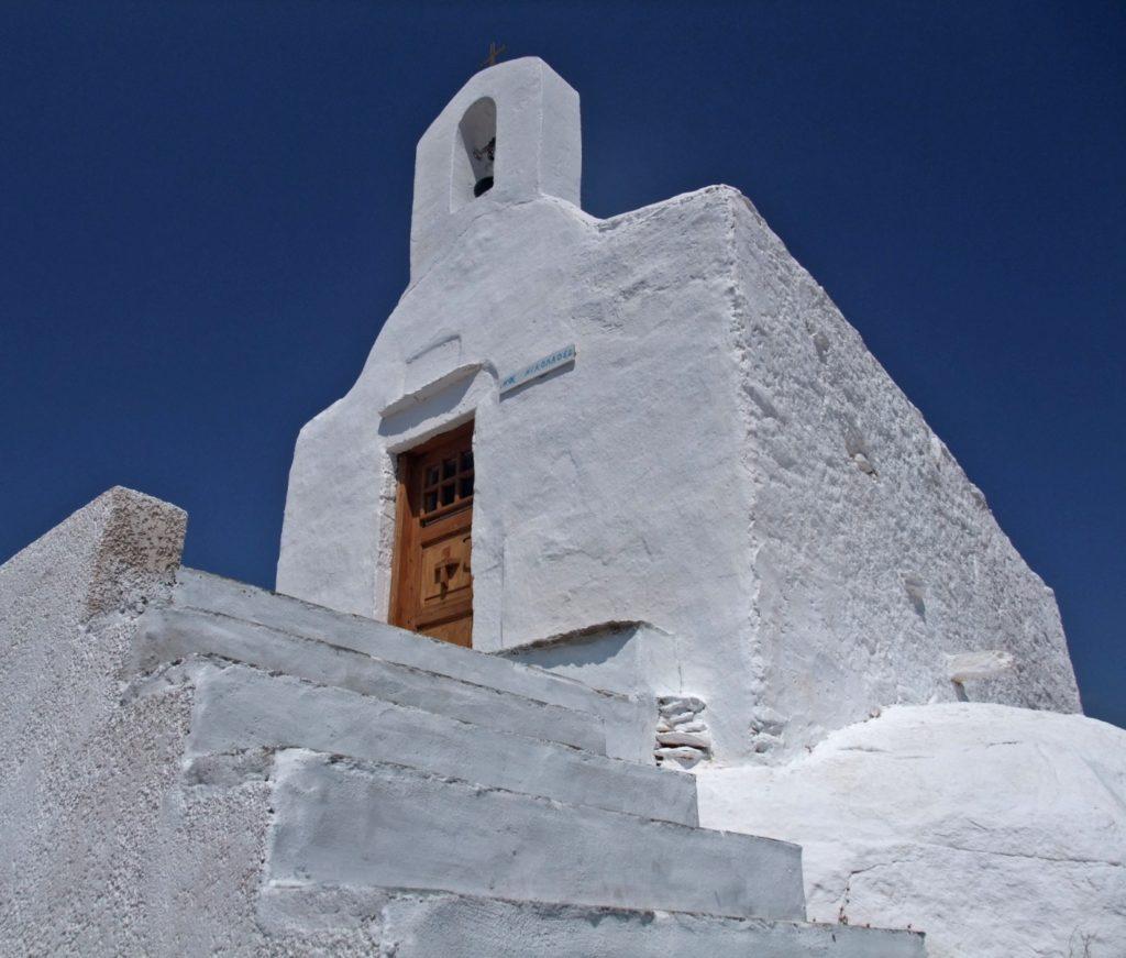 A church on the Ios island, Greece