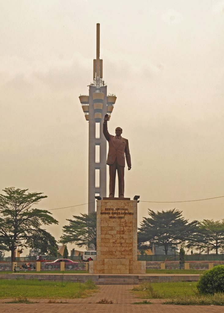 Kinshasa - The Lumumba Monument, halfway between the airport and Gombe