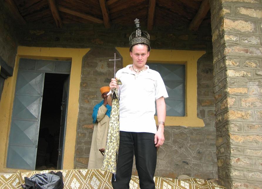 Me wearing King Kaleb's Crown