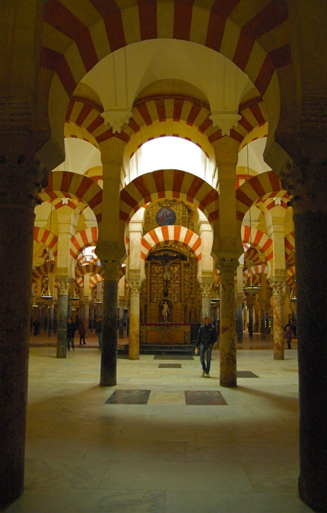 Inside the Mezquita of Cordoba