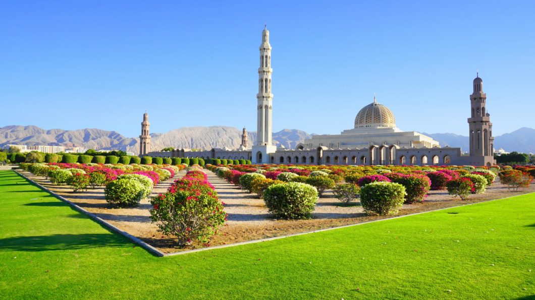 Sultan Qaboos Mosque in Muscat, Oman