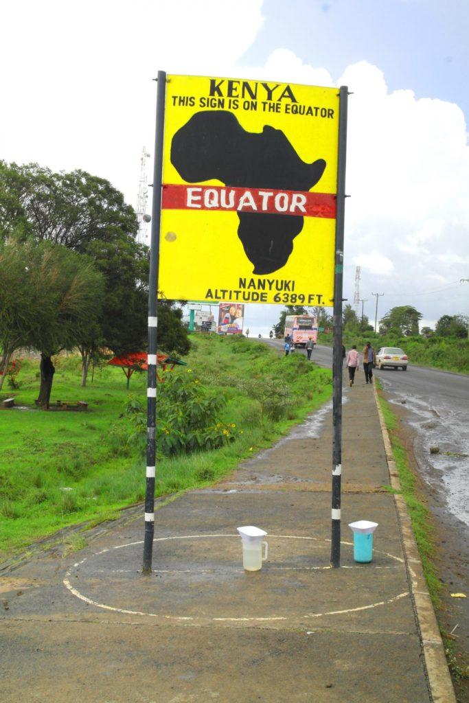 Nanyuki - Equator sign