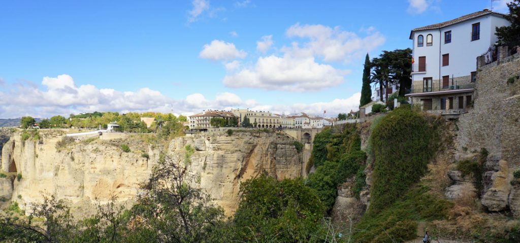 Ronda, Spain - dramatically situated on top of a steep cliff, with the two sides of the town conencted by the Puente Nuevo