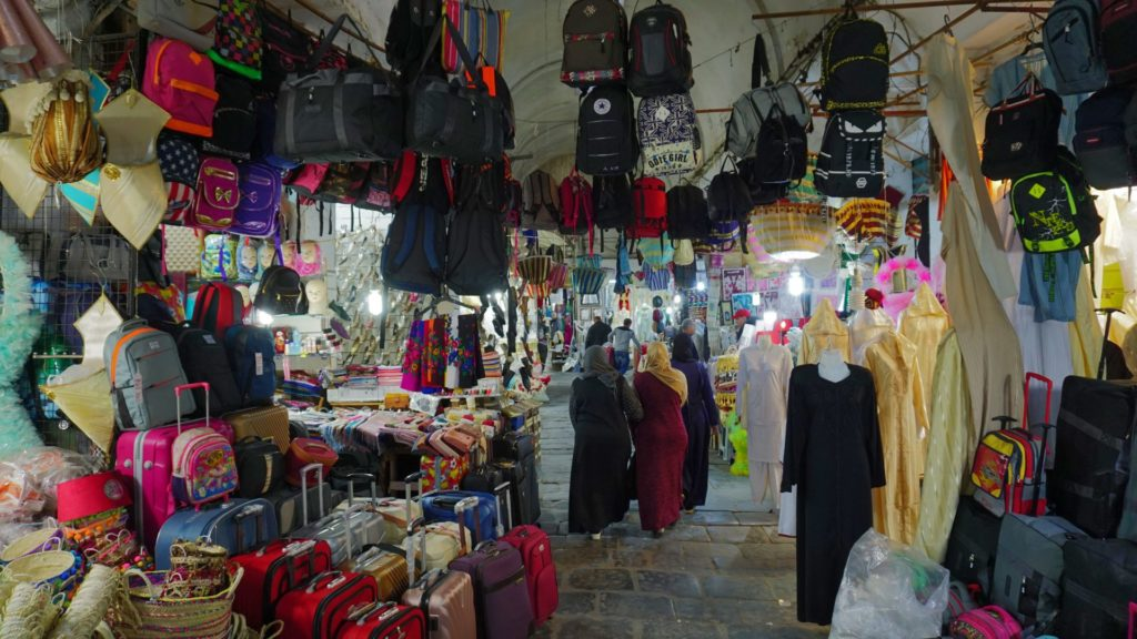 Tunis. The Medina. Vibrant and colourful, with just about anything on display and for sale.