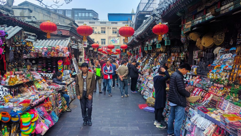 The Wangfujing Market in Beijing