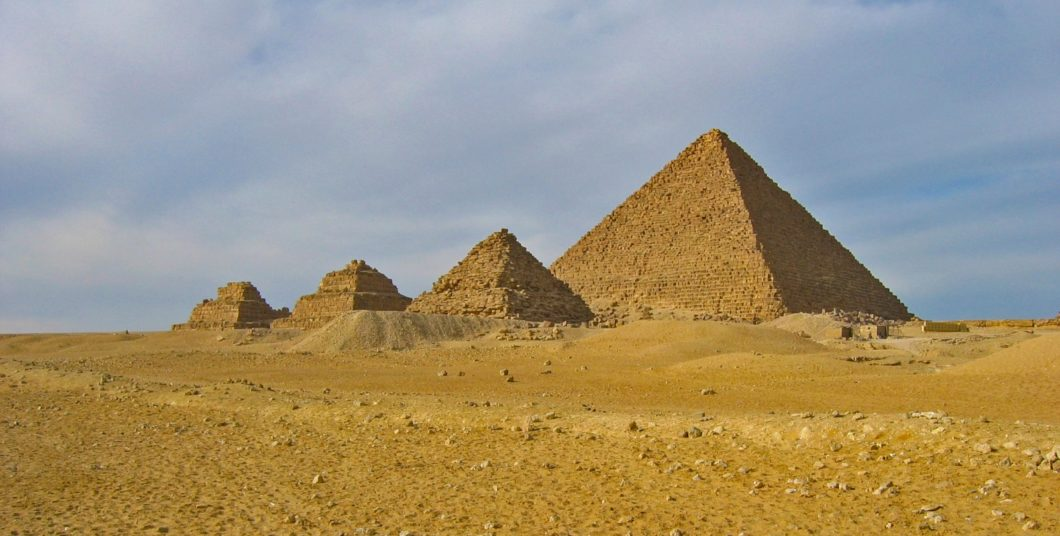 The Giza Pyramids in Cairo, Egypt