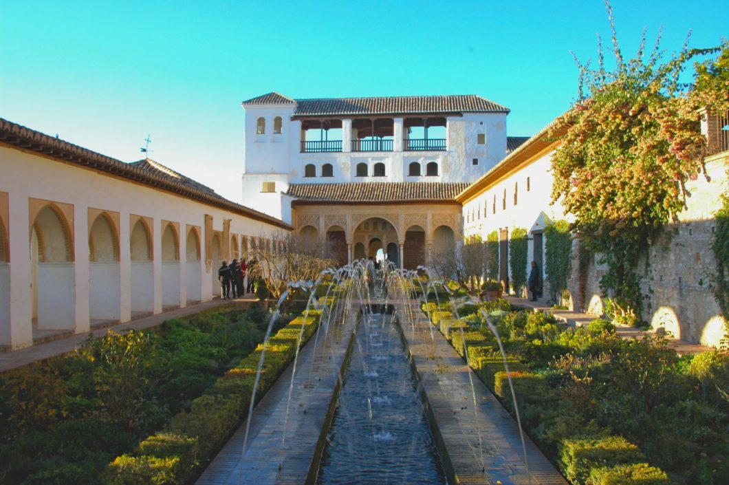 The Generalife of Alhambra, in Granada, Spain