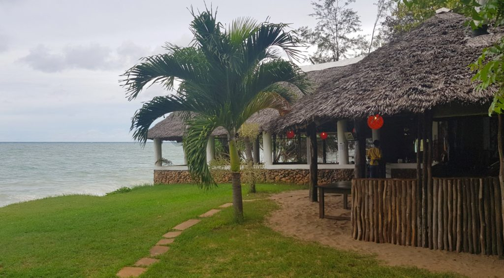 Monsoons beach restaurant at Jumba Ruins - one of Africa's best!