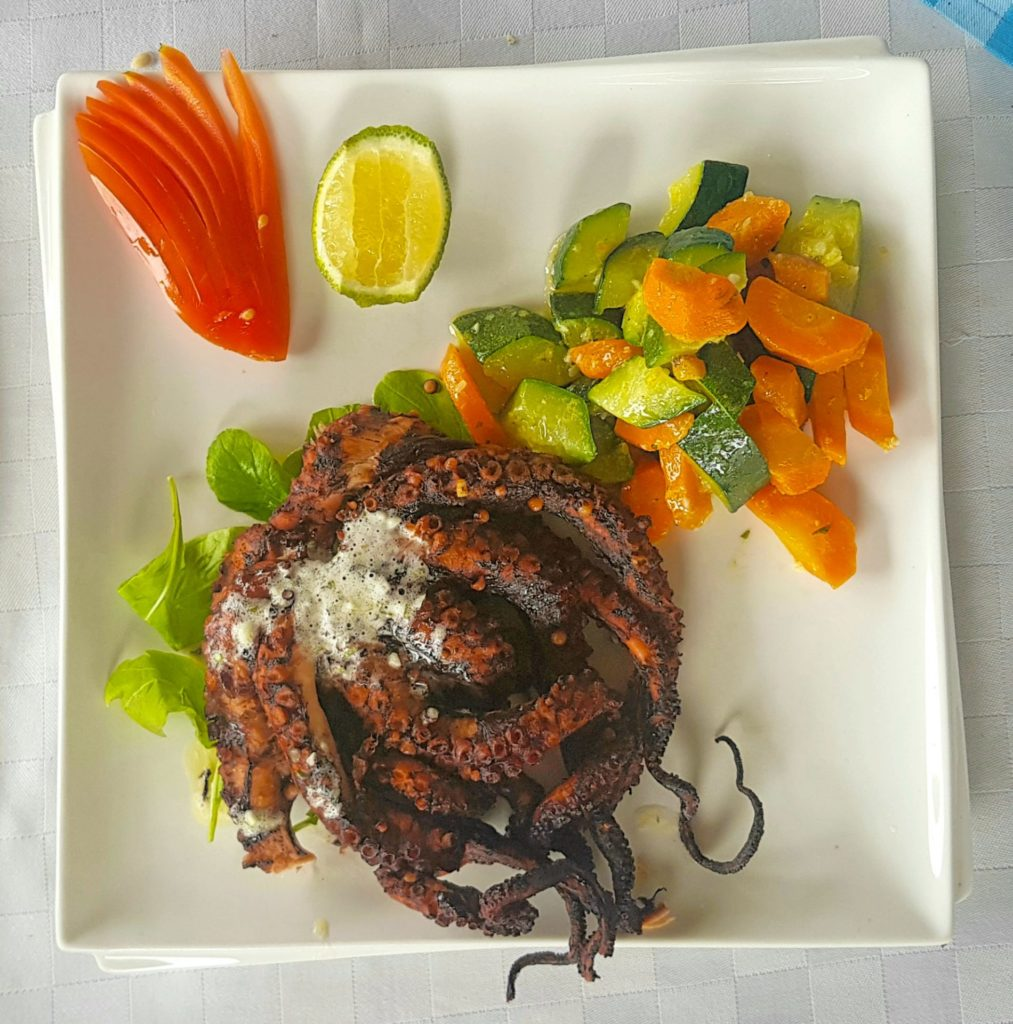 Grilled Octopus at Monsoons Restaurant