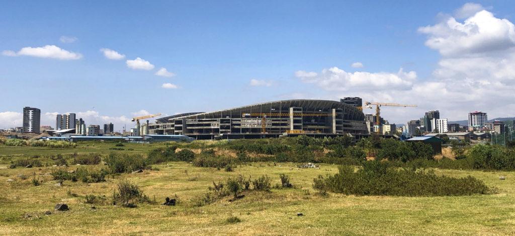 Addis Ababa – The new National Stadium of Ethiopia under construction, near Bole Airport