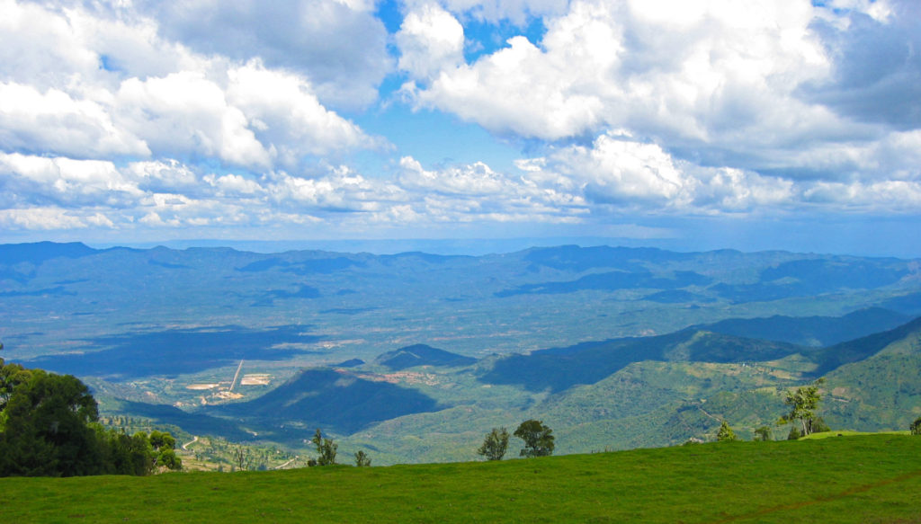 Eldama Ravine - View of the Rift Valley.  Picture taken in 2004