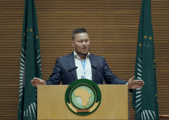 Håvar Bauck speaking at the African Union