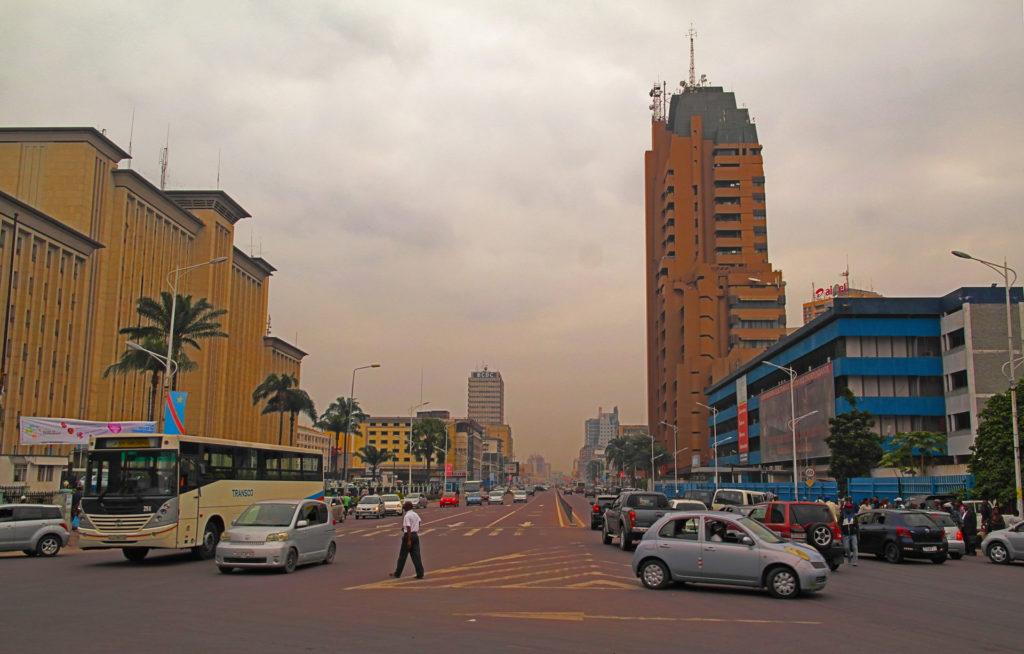 Kinshasa - Boulevard du 30 Juin. The main boulevard of Kinshsasa
