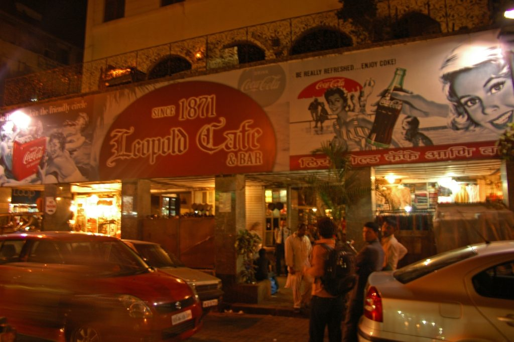 Leopold Cafe - the oldest car in Mumbai, and Shantaram's regular hangout place.