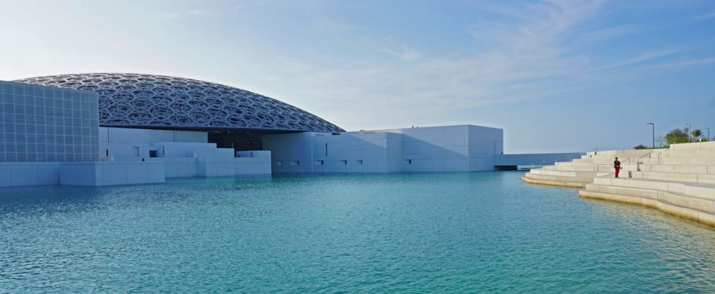 The Louvre in Abu Dhabi.  If you are an art lover or a history buff, then the Louvre is THE must-visit in Abu Dhabi
