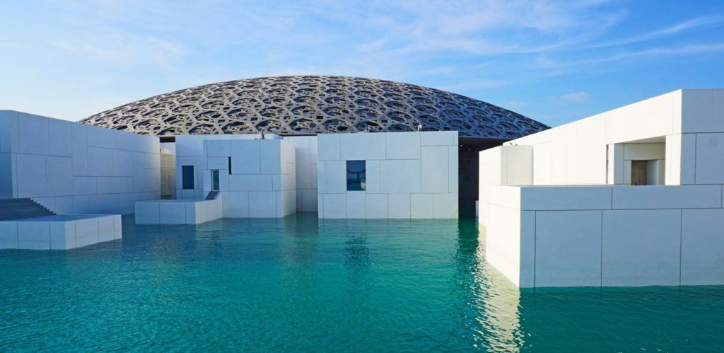 The Louvre in Abu Dhabi  - an impressive and unique piece of architecture