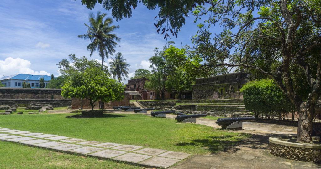 Inside Fort Jesus, Mombasa's grand historical landmark