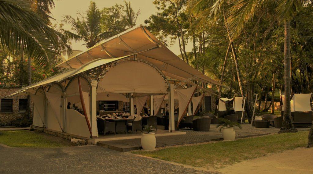 The Sails at Almanara - one of the top beach restaurants in the Kenya Coast