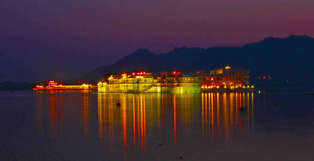 Udaipur – The Lake Palace by Night