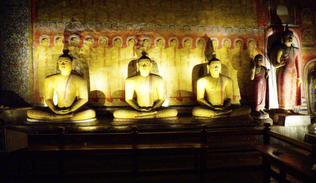 Dambulla Rock Temple, Sri Lanka - Sitting and Standing Buddhas