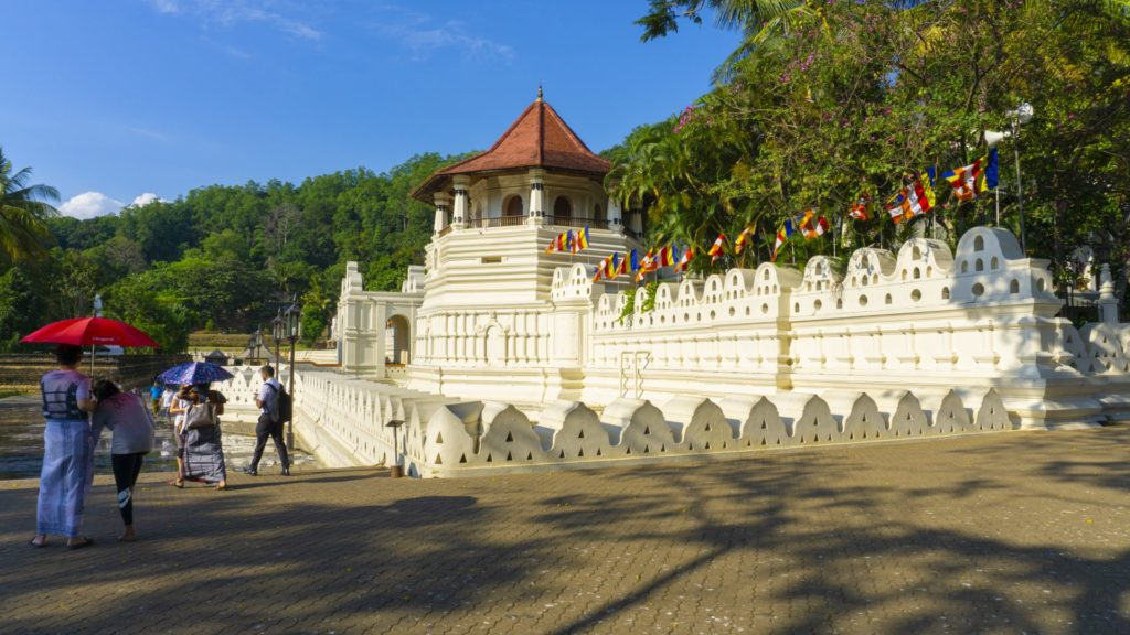 Kandy - Temple of the Sacred Tooth Relic - the Octagon Building