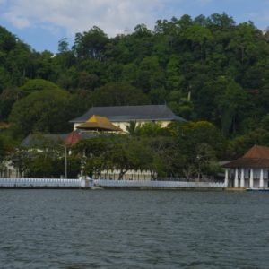 Kandy - Temple of the Sacred Tooth Relic, seen from the lake