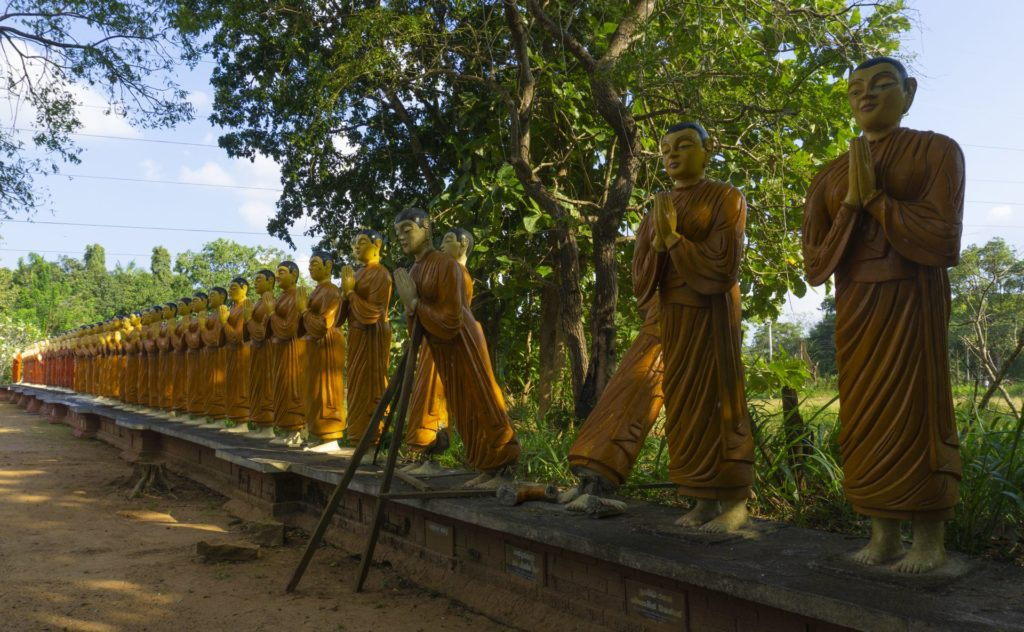 Sigiriya - Guarding Monks Surrounding the Standing Buddha