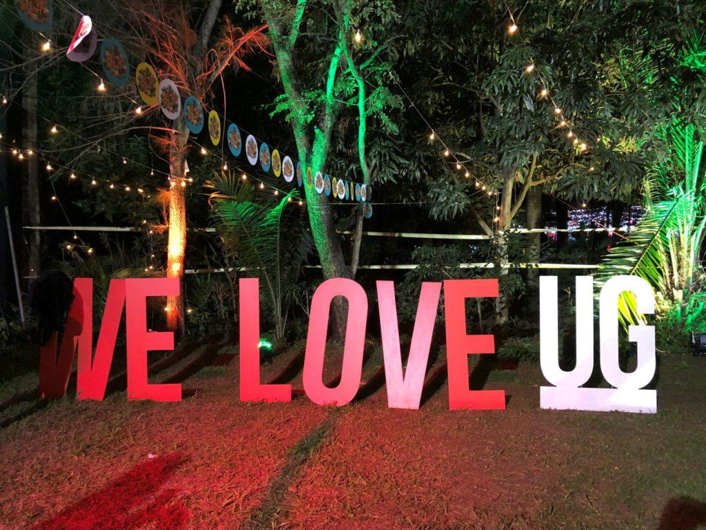 We Love UG sign