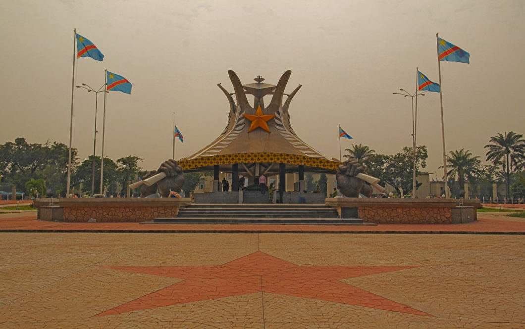 The Laurent Kabila Mausoleum in Kinshasa. Built to commemorate the late former president, assassinated in 2002, and succeeded by his son, Joseph Kabila
