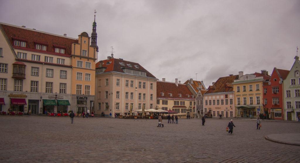 Tallinn – Old Town - Raekoja Plats, the main square in Tallinn Old Town