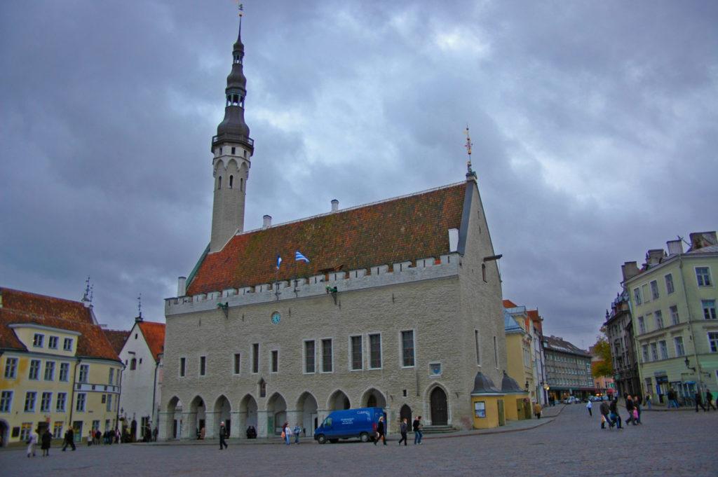Tallinn – Old Town – The Town Hall, one of the main landmarks of Tallinn