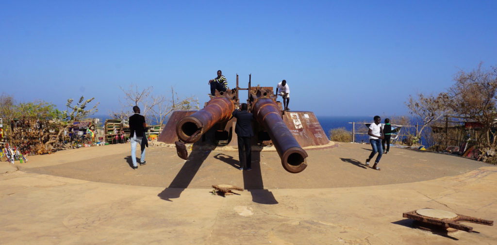 "Dakar - Ile de Gorée - The Cannons of Gorée. the giant cannons of Ile de Goree. Several scenes in the 1961 blockbuster ""Guns of Navarone"" was actually shot on this island. These giant cannons, however, did not feature in the movie"