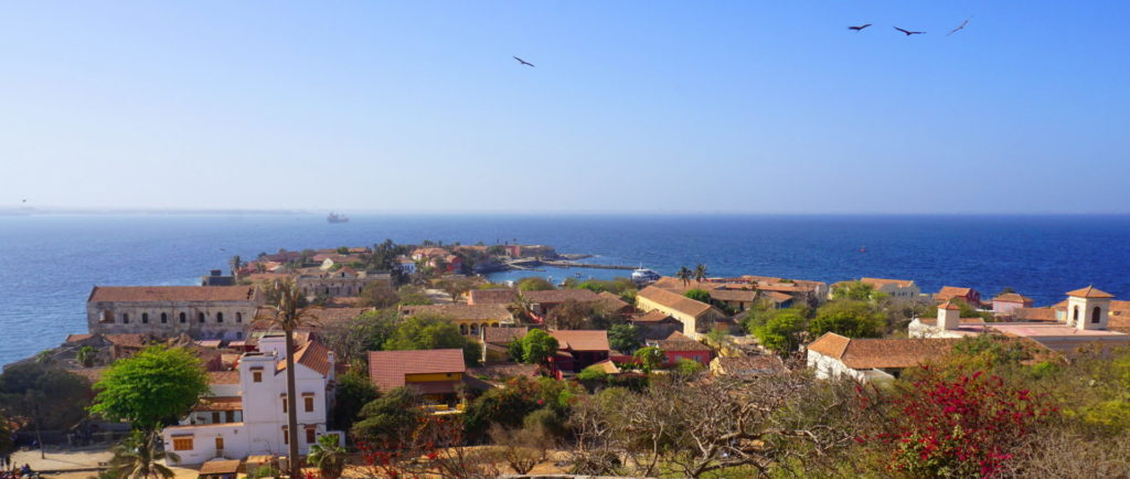 Ile de Gorée - The town of Gorée - view from the top of the hill