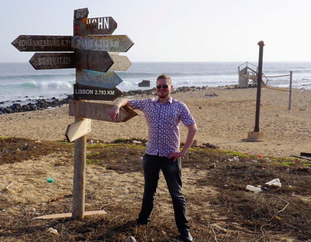 Håvar Bauck at Westernmost point of Africa, in Dakar, Senegal