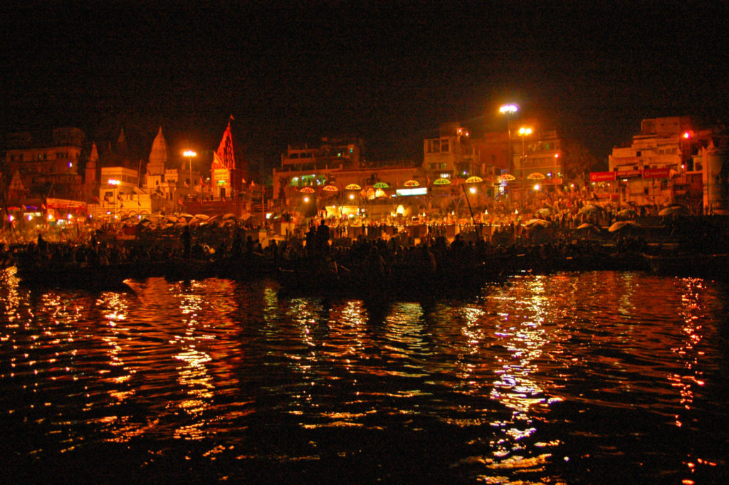 Varanasi – Aarti Ceremony (Agni Pooja) at Dashashwamedh Ghat