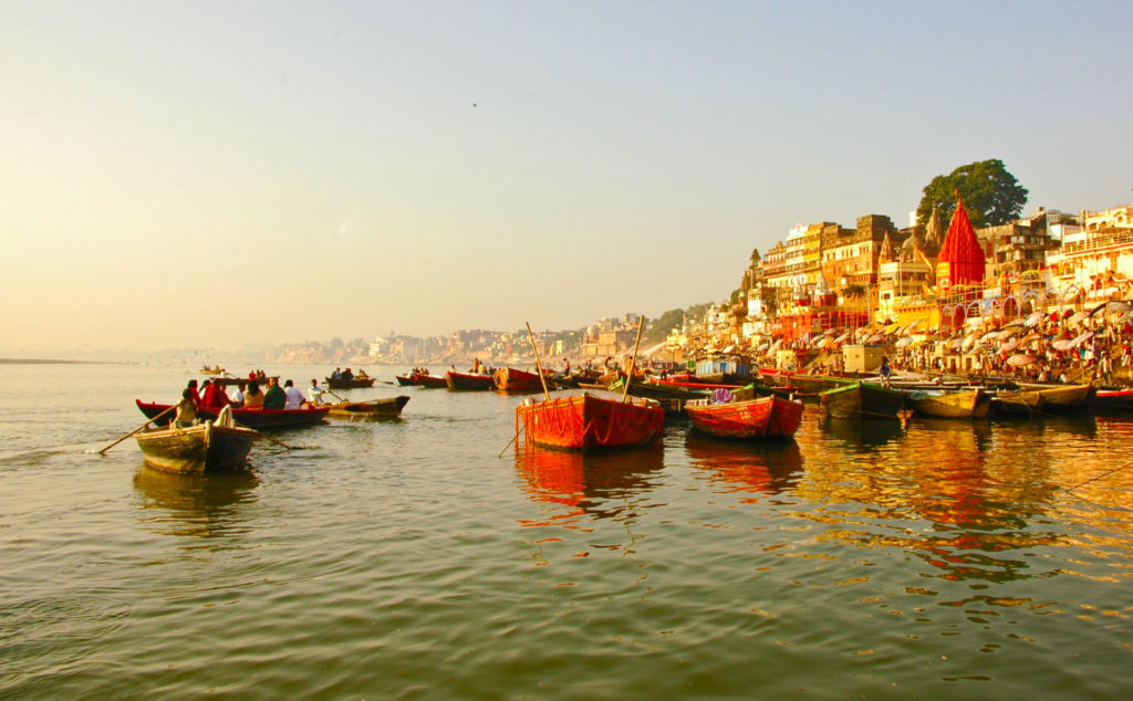 Varanasi – Boats on the Ganga River in the early morning